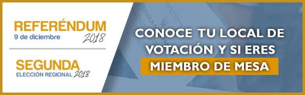 Conoce tu local de votación y si eres miembro de mesa