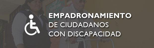 EMPADRONAMIENTO DE CIUDADANOS CON DISCAPACIDAD