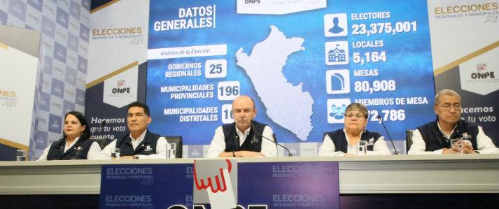 ONPE emitió resultados de las elecciones a nivel de Lima y regiones