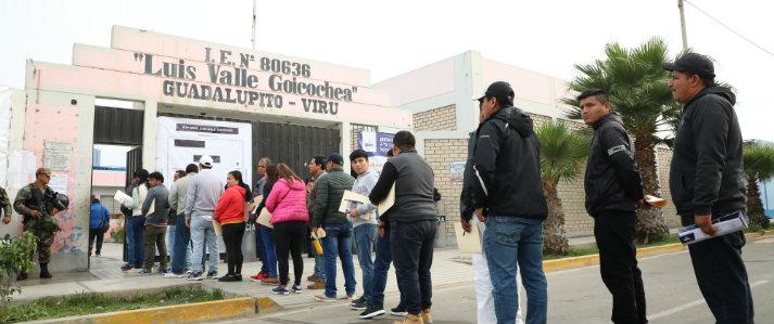 ONPE: Singular afluencia de electores y miembros de mesa se registró en horas de la mañana