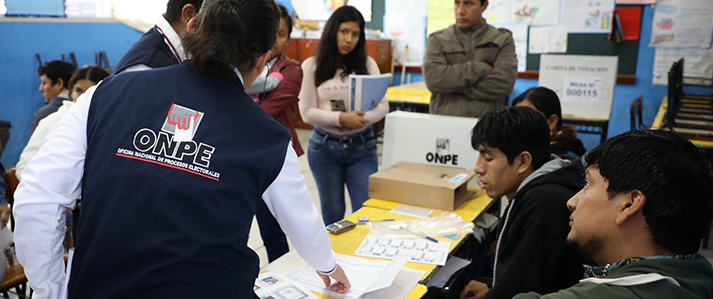 ONPE procesó el 100% de actas de las elecciones municipales complementarias