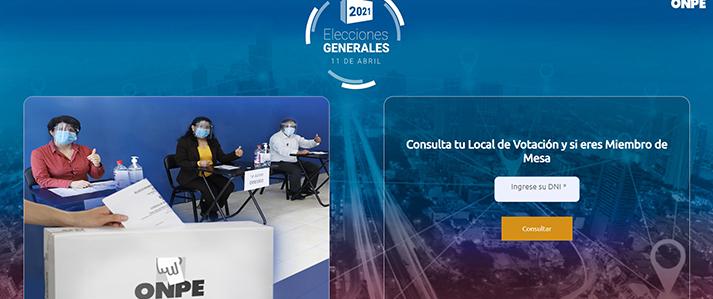 ONPE publicó lista definitiva de miembros de mesa y locales de votación