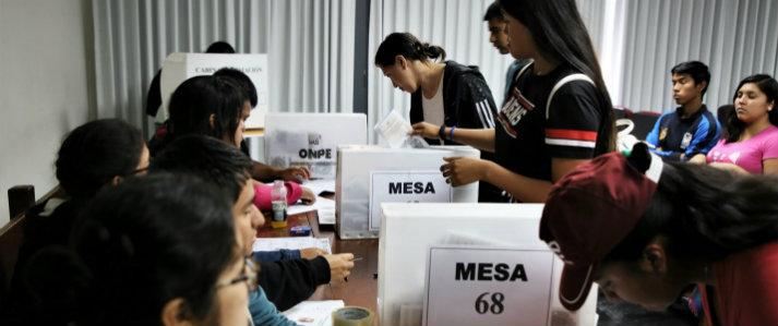 Universidades públicas eligieron representantes estudiantiles con asistencia de la ONPE