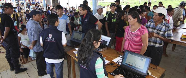Centros poblados pueden solicitar a la ONPE instalación de mesas de sufragio cerca a sus comunidades