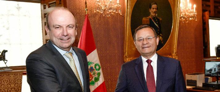 Jefe de la ONPE sostuvo reunión con canciller del Perú