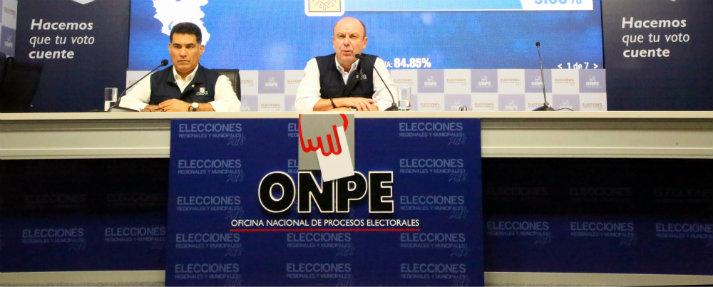 ONPE entregó resultados al 100% de 12 distritos de Lima