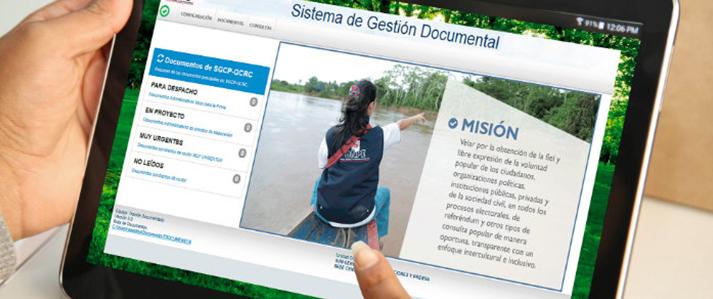 Sistema de Gestión Documental de la ONPE figura como Buena Práctica en Gestión Pública 2019