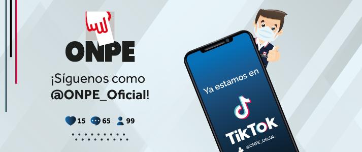 ONPE abre cuenta en TikTok para acercarse a nuevas audiencias