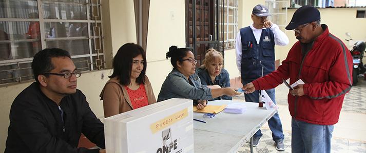 ONPE brindó asistencia técnica para las elecciones internas en cuatro partidos políticos