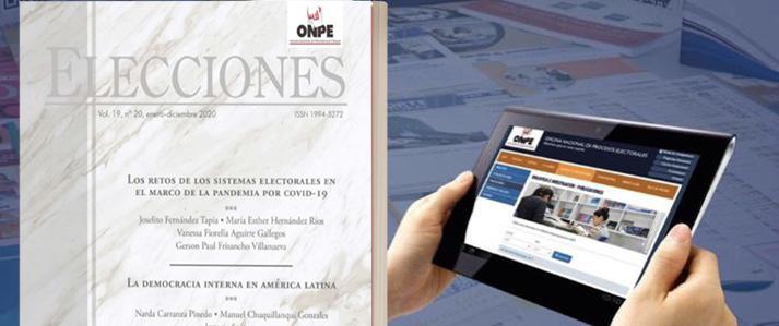 Publicación de la ONPE analiza retos de los sistemas electorales ante la pandemia de la COVID-19