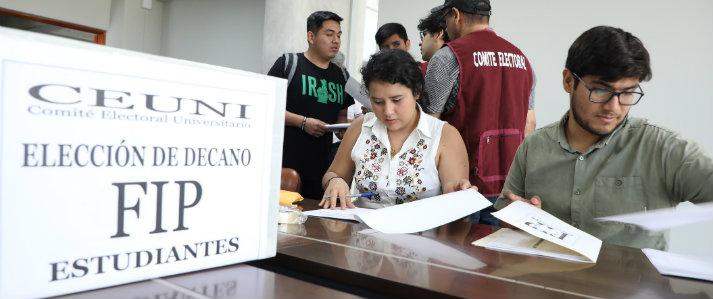 Desarrollaron cuatro elecciones simultáneas en la UNI con asistencia técnica de la ONPE