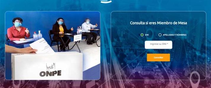 ONPE publica link con listado preliminar de miembros de mesa