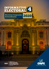 Informativo Electoral N.° 4 - Elecciones Congresales Extraordinarias 2020