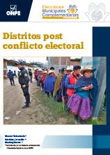 Elecciones Municipales Complementarias: Distritos post conflicto electoral